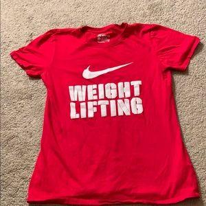 Nike weightlifting tshirt